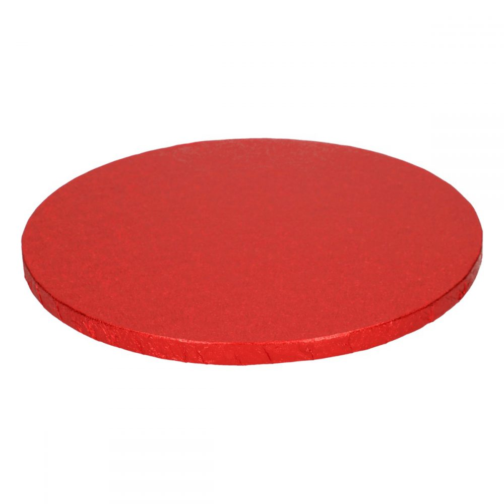 Cake Drum Rond Rood