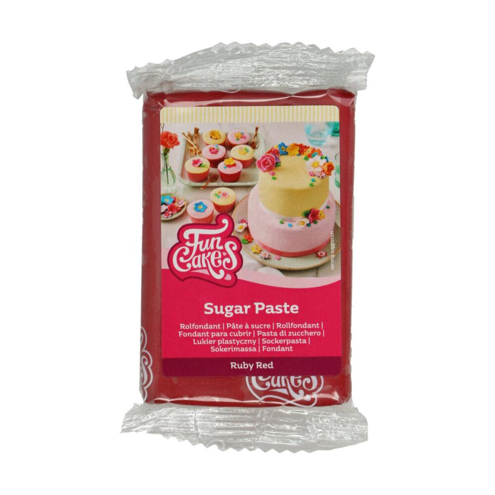 Sugar Paste Ruby Red