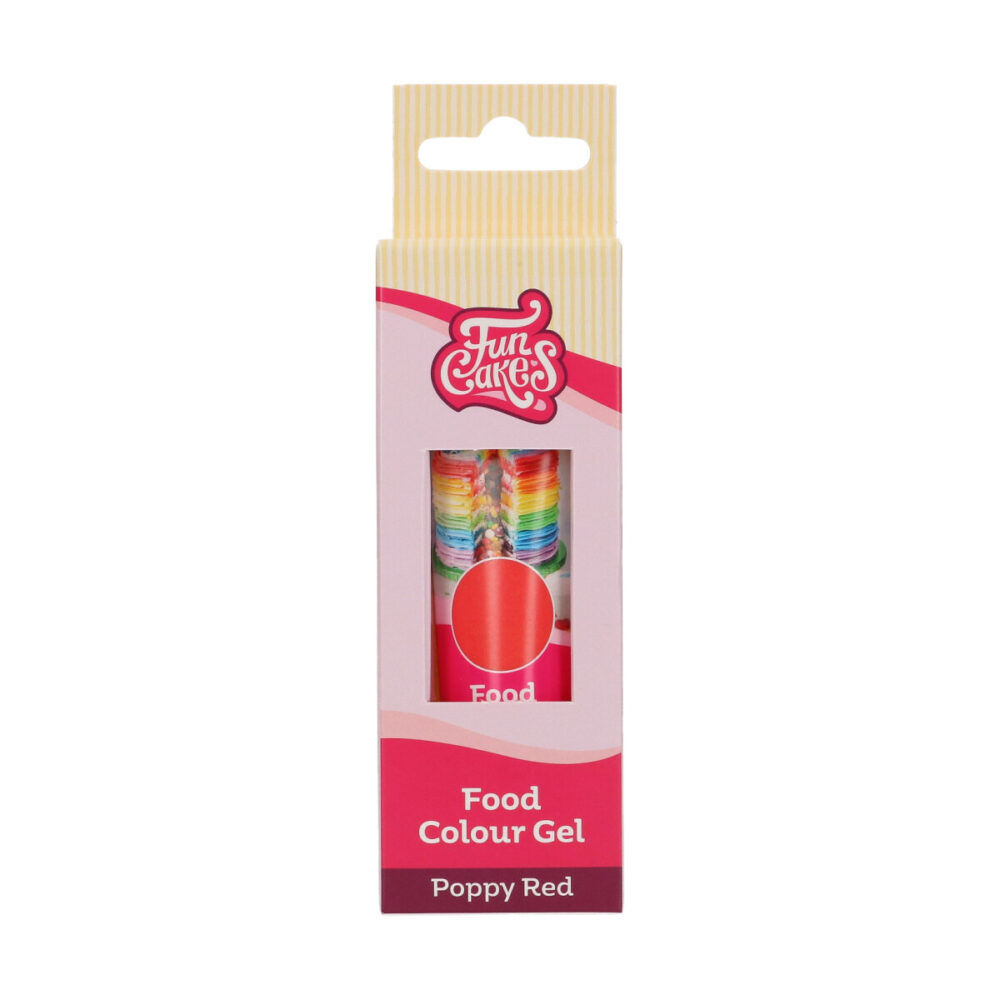Food Colour Gel Poppy Red