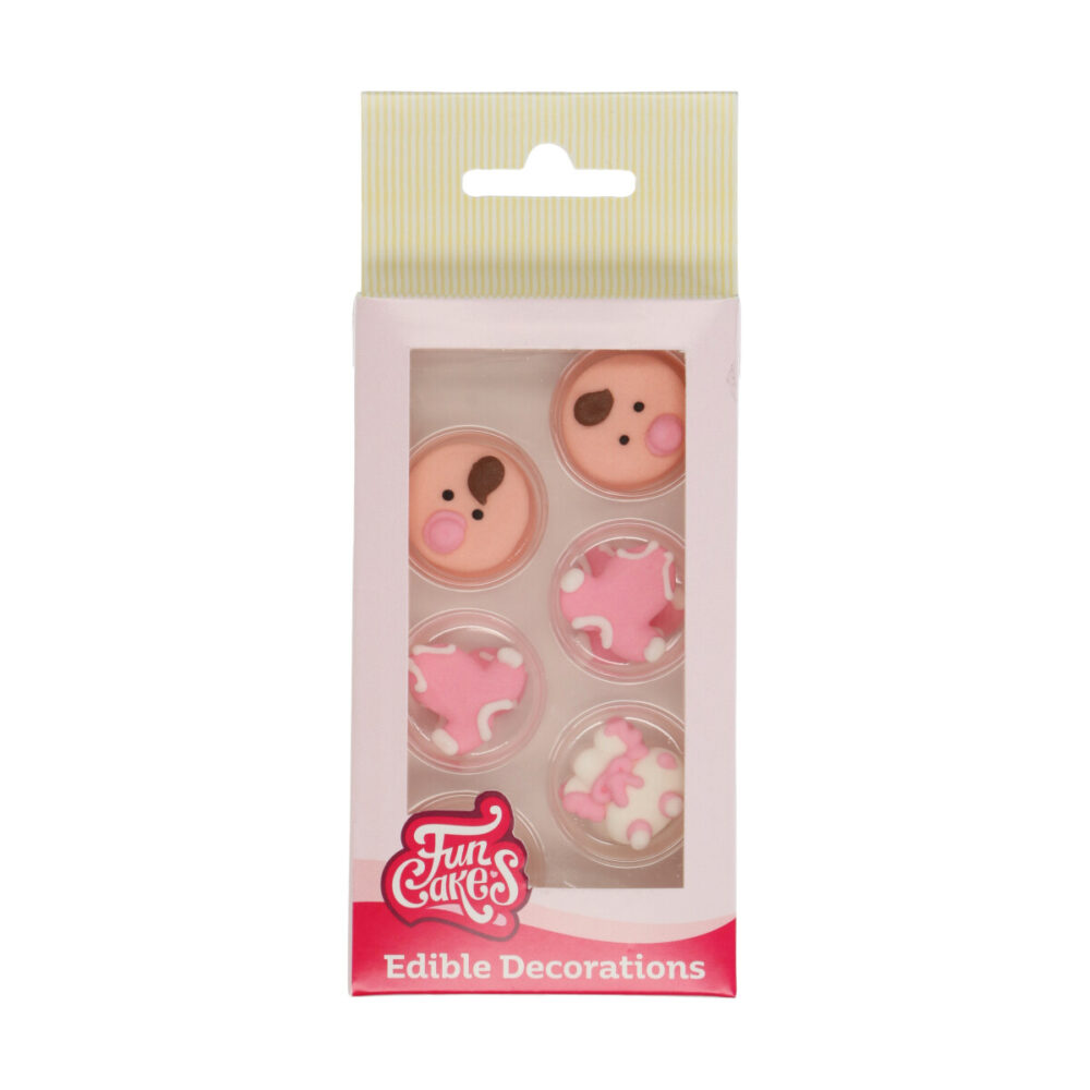 Sugar Decorations Baby Pink