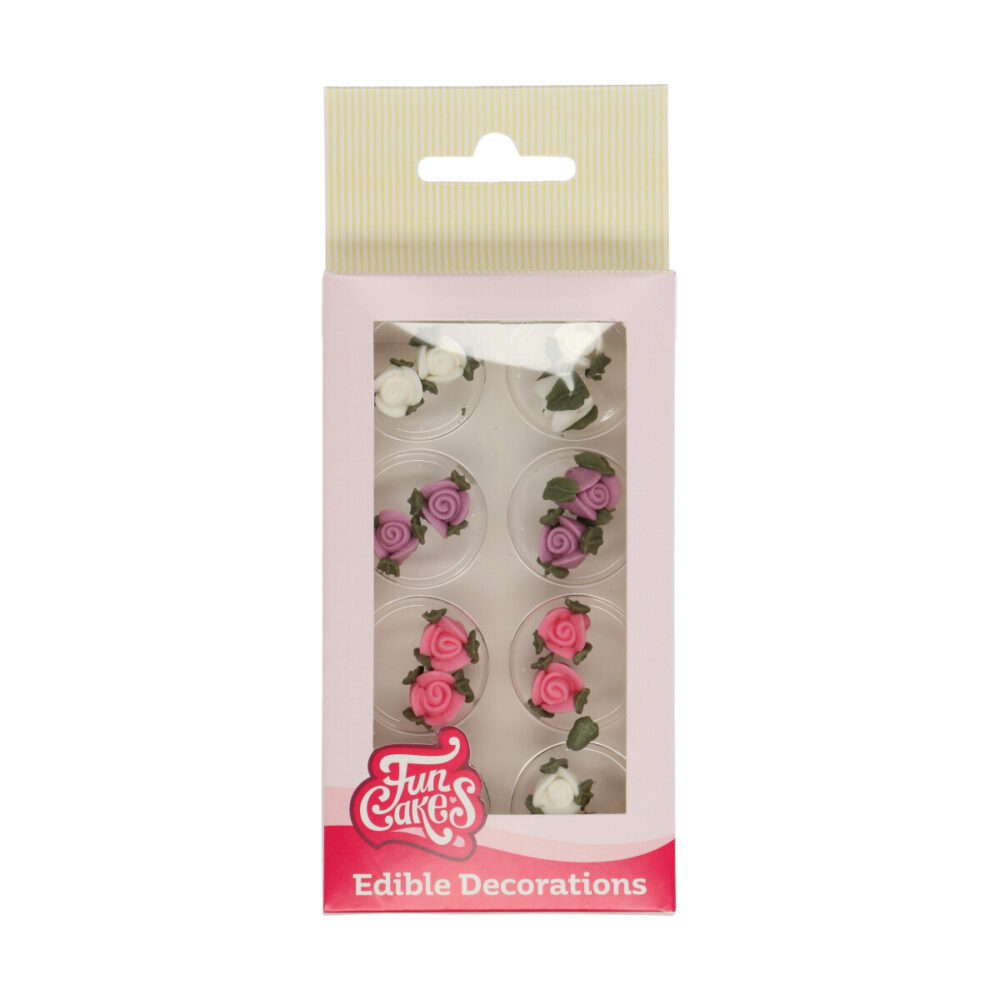 Sugar Decorations Roses with Leafs