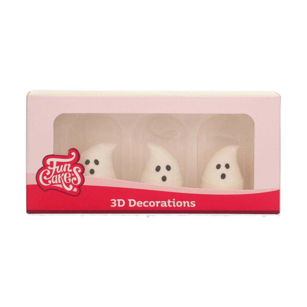 Sugar Decorations 3D Ghosts