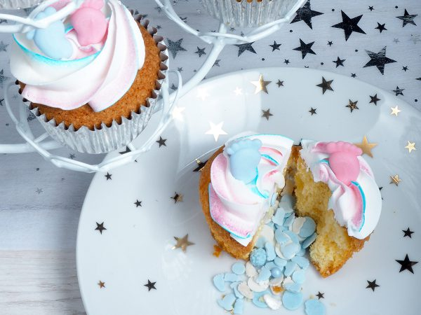 FunCakes Recept Gender Reveal Cupcakes