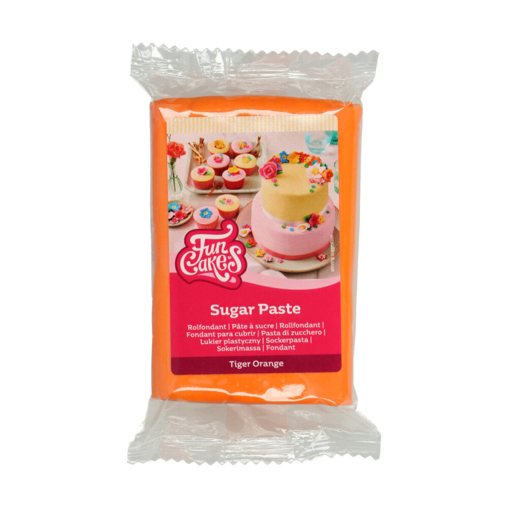 Sugar Paste Tiger Orange