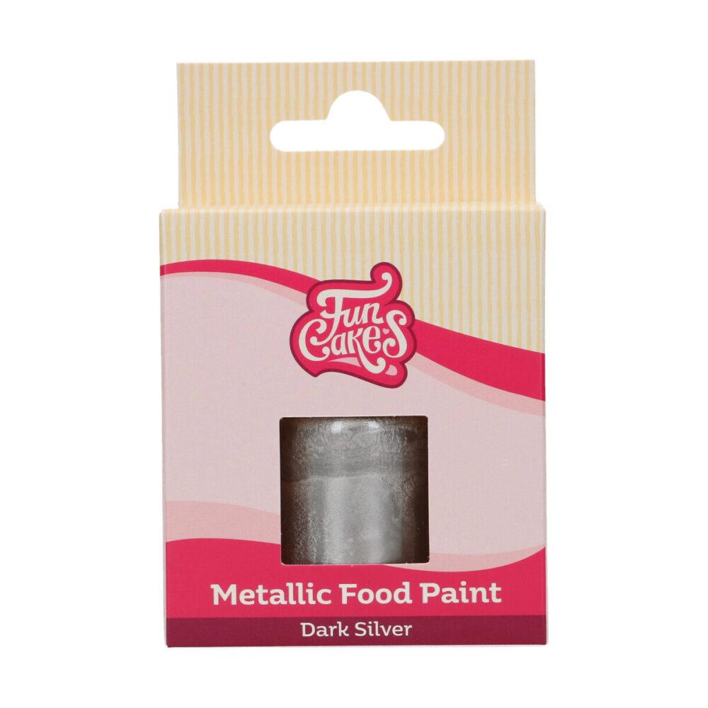 Metallic Food Paint Dark Silver