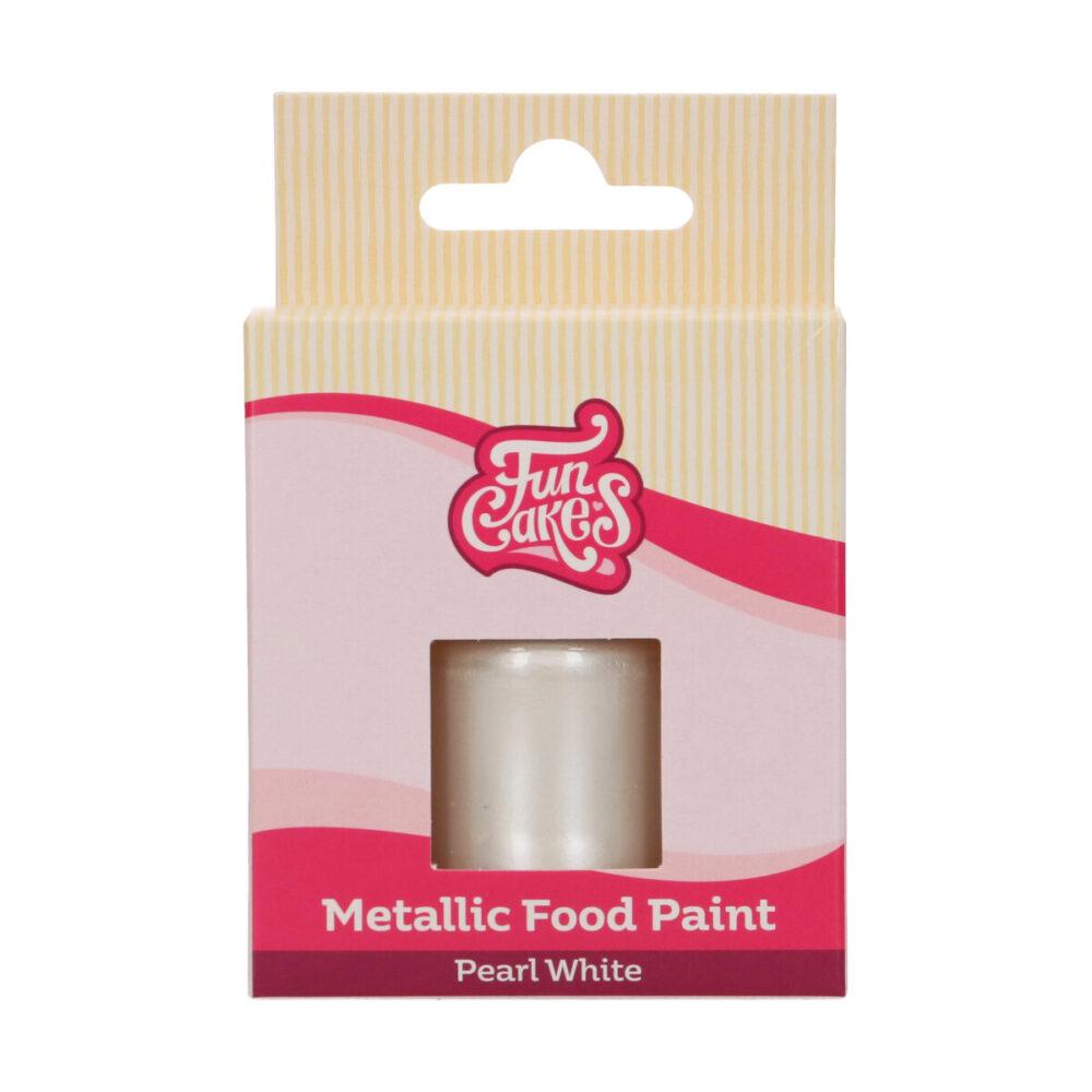 Metallic Food Paint Pearl White