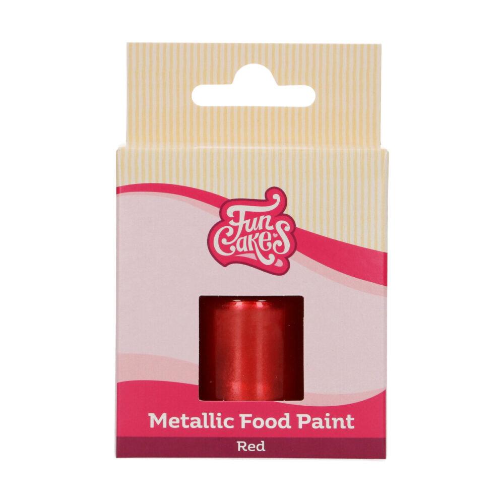 Metallic Food Paint Rood