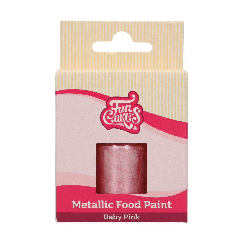 Metallic Food Paint Baby Pink
