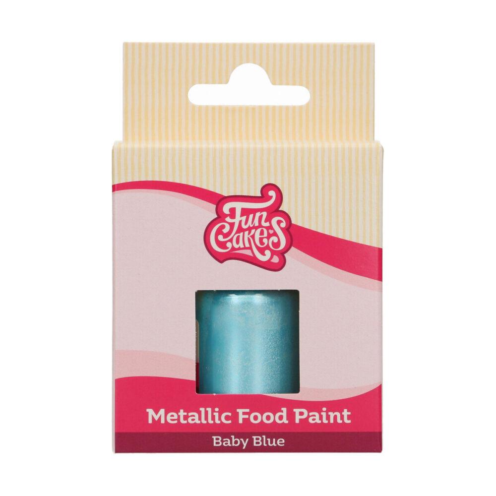 Metallic Food Paint Baby Blue