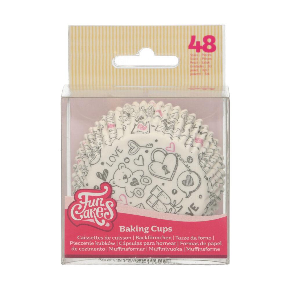 Baking Cups Love Doodle