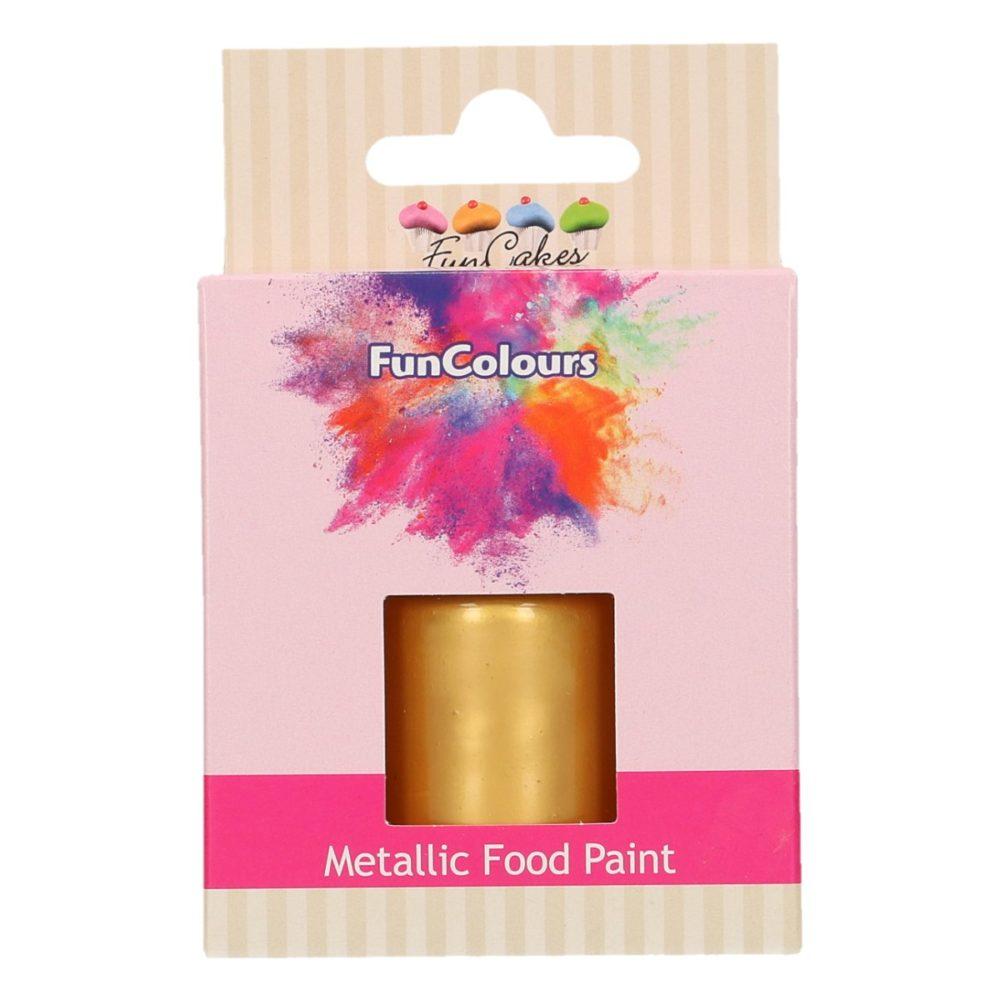 FunCakes FunColours Metallic Food Paint Gold