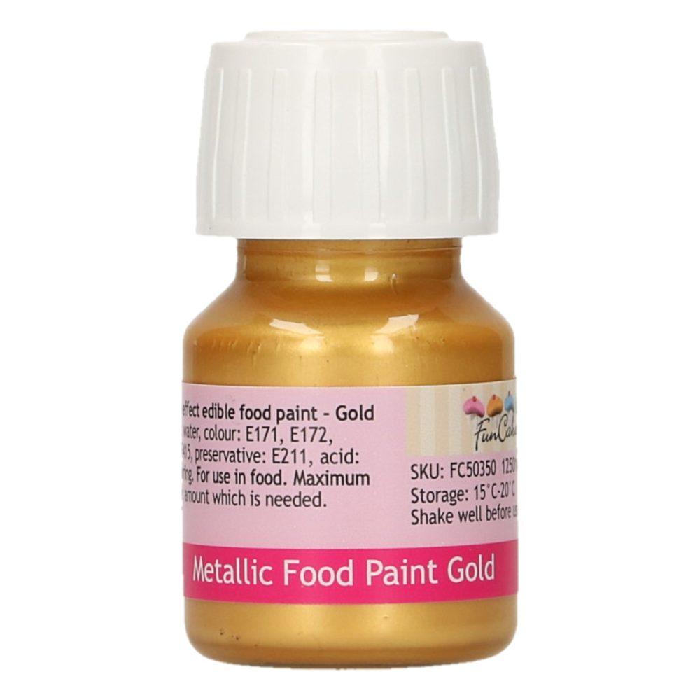 FunCakes Metallic Food Paint Gold