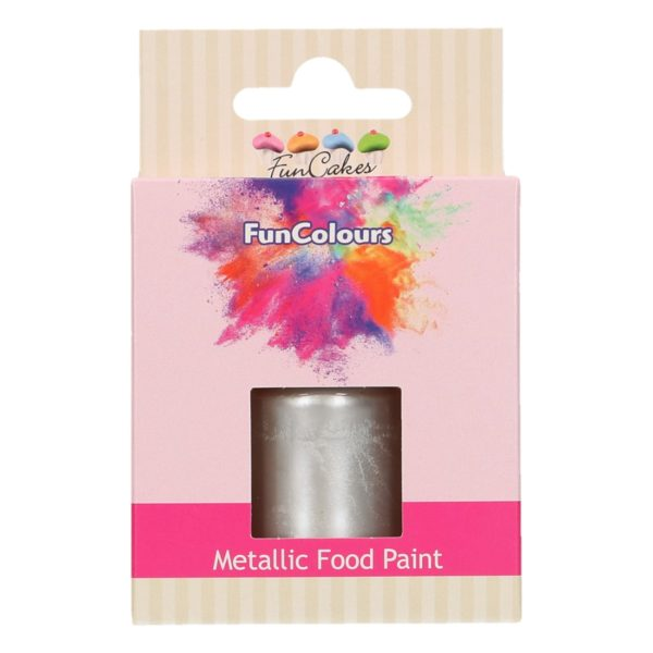 FunCakes FunColours Metallic Food Paint Silver