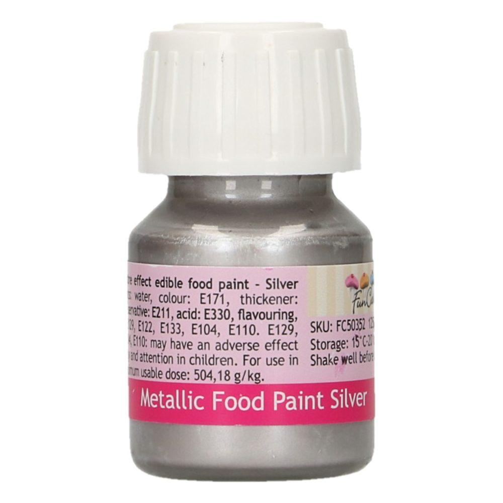 FunCakes Metallic Food Paint Silver