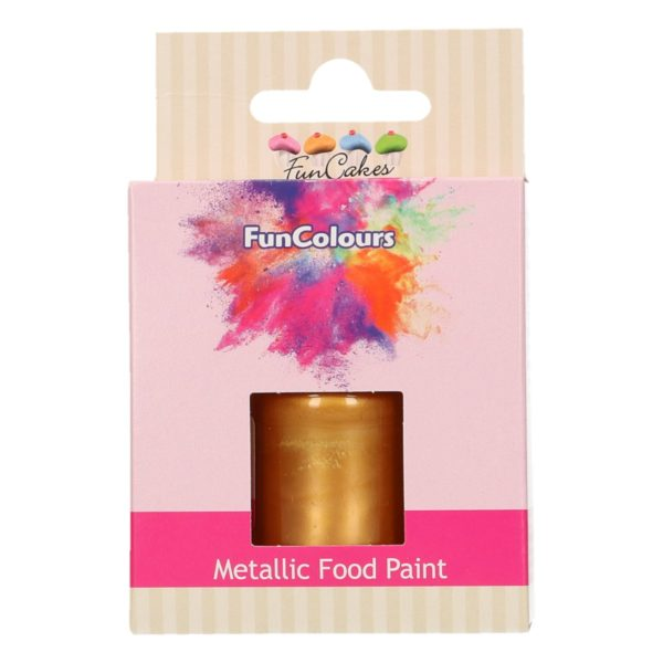 FunCakes FunColours Metallic Food Paint Dark Gold