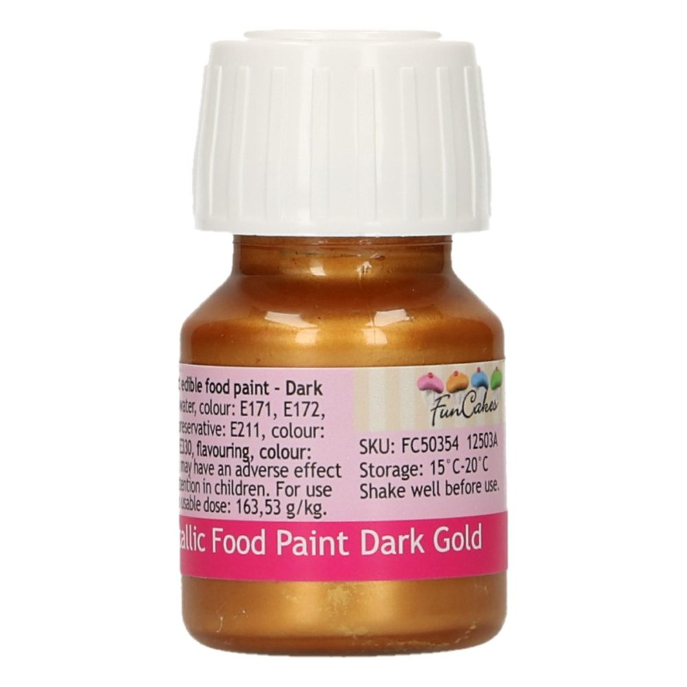 FunCakes Metallic Food Paint Dark Gold