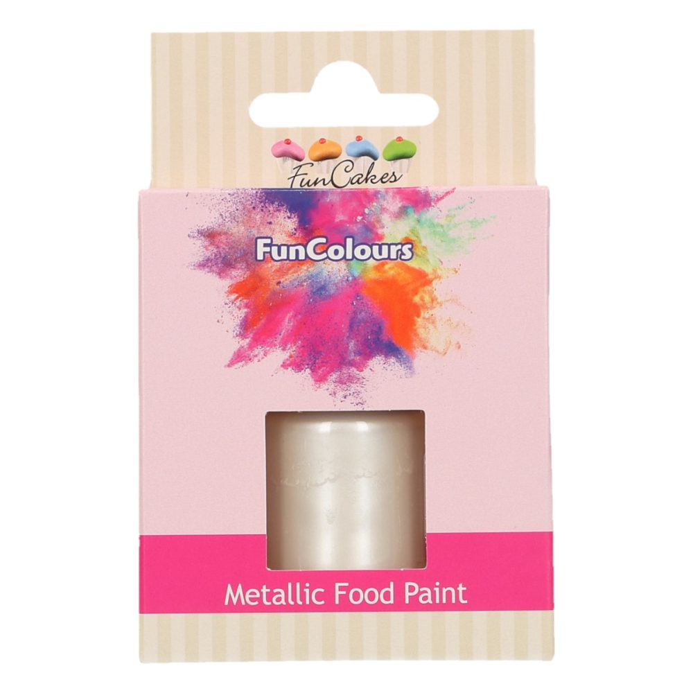FunCakes FunColours Metallic Food Paint Pearl white