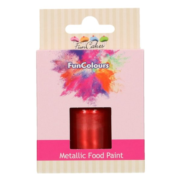FunCakes FunColours Metallic Food Paint Red
