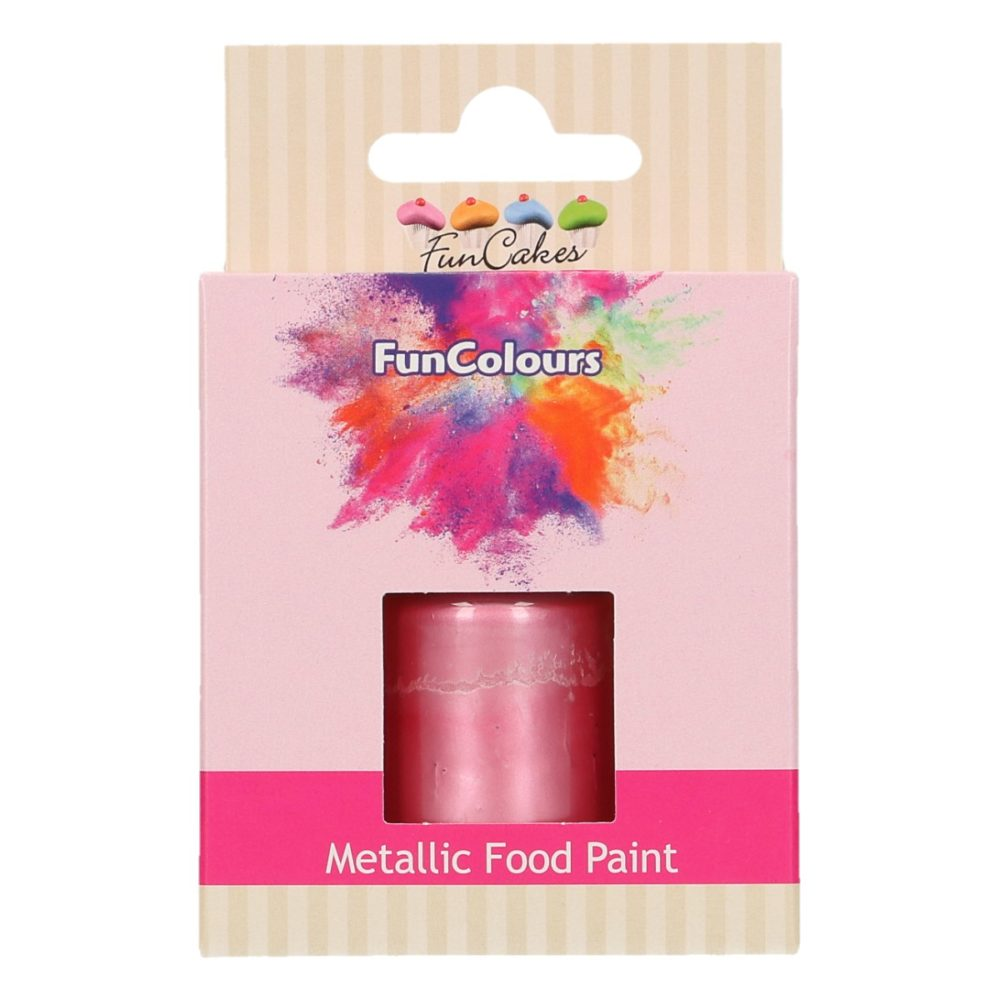 FunCakes FunColours Metallic Food Paint Baby Pink
