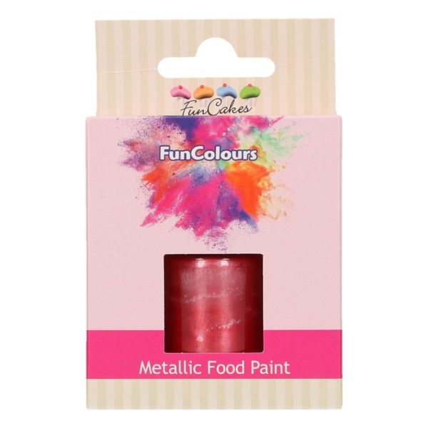 FunCakes FunColours Metallic Food Paint Cerise