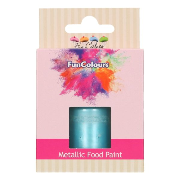 FunCakes FunColours Metallic Food Paint Baby Blue