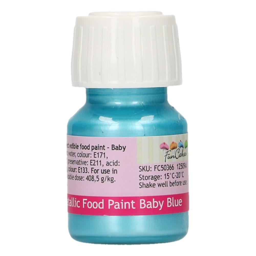 FunCakes Metallic Food Paint Baby Blue