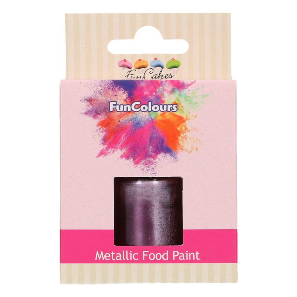 FunCakes FunColours Metallic Food Paint Purple