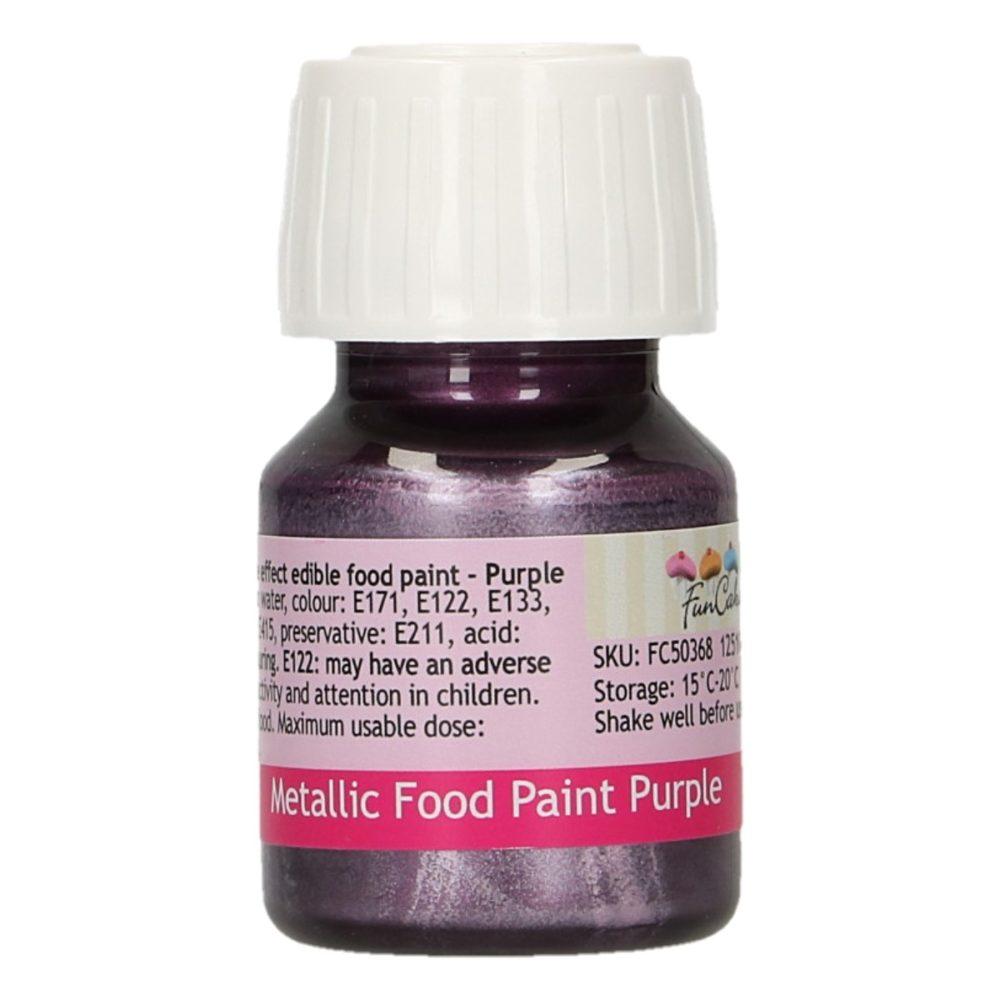FunCakes Metallic Food Paint Purple