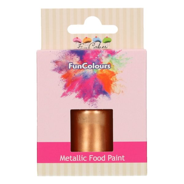 FunCakes FunColours Metallic Food Paint Copper