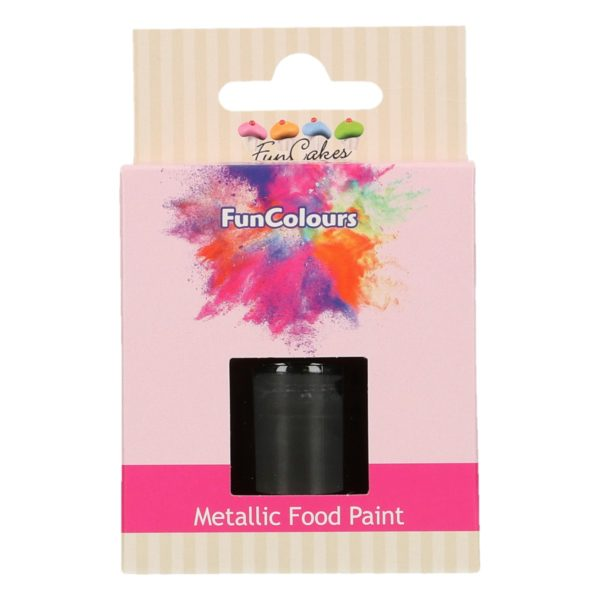 FunCakes FunColours Metallic Food Paint Black