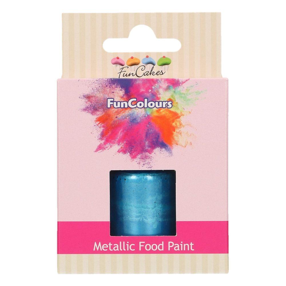 FunCakes FunColours Metallic Food Paint Royal Blue