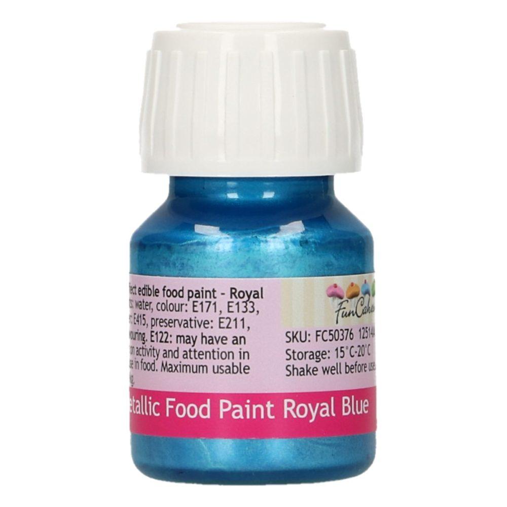 FunCakes Metallic Food Paint Royal Blue