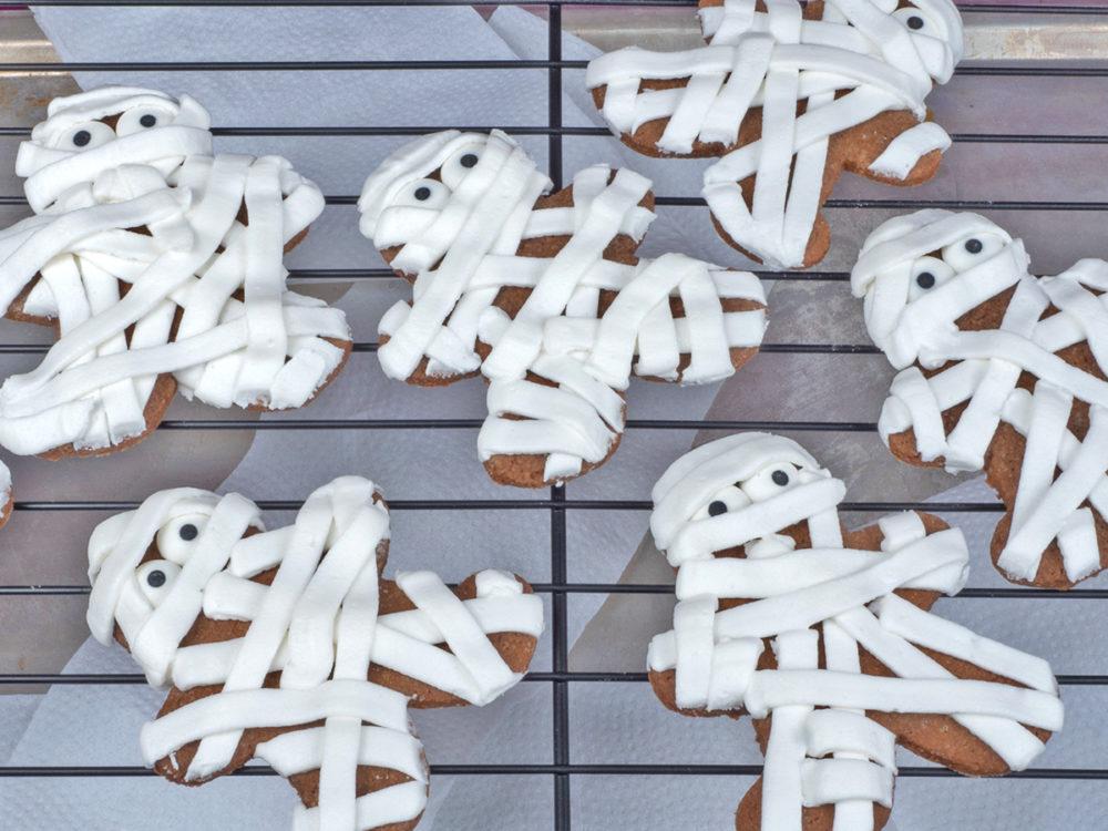 Gingerbread mummie koekjes