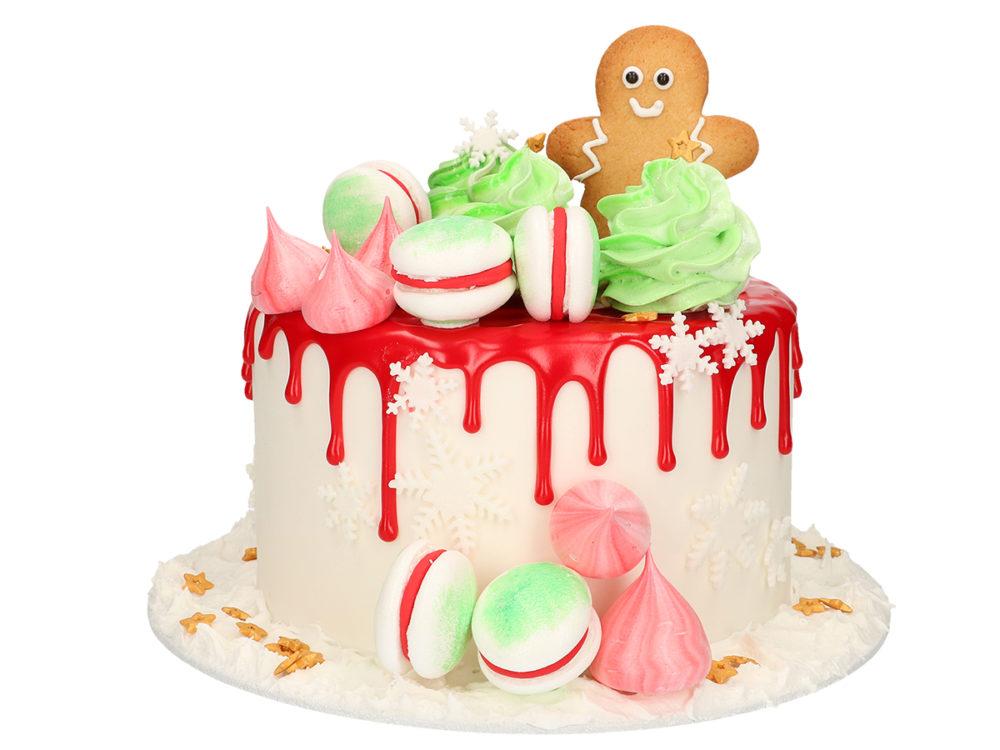 Kerst drip cake