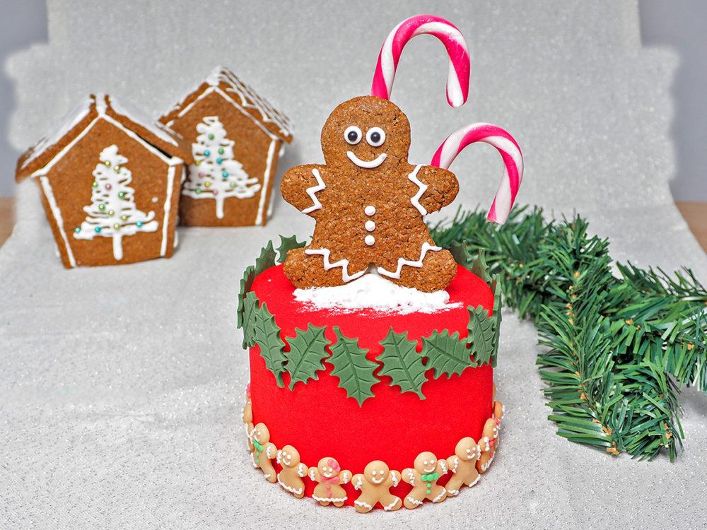 Klein Kersttaartje met gingerbreadpoppetje