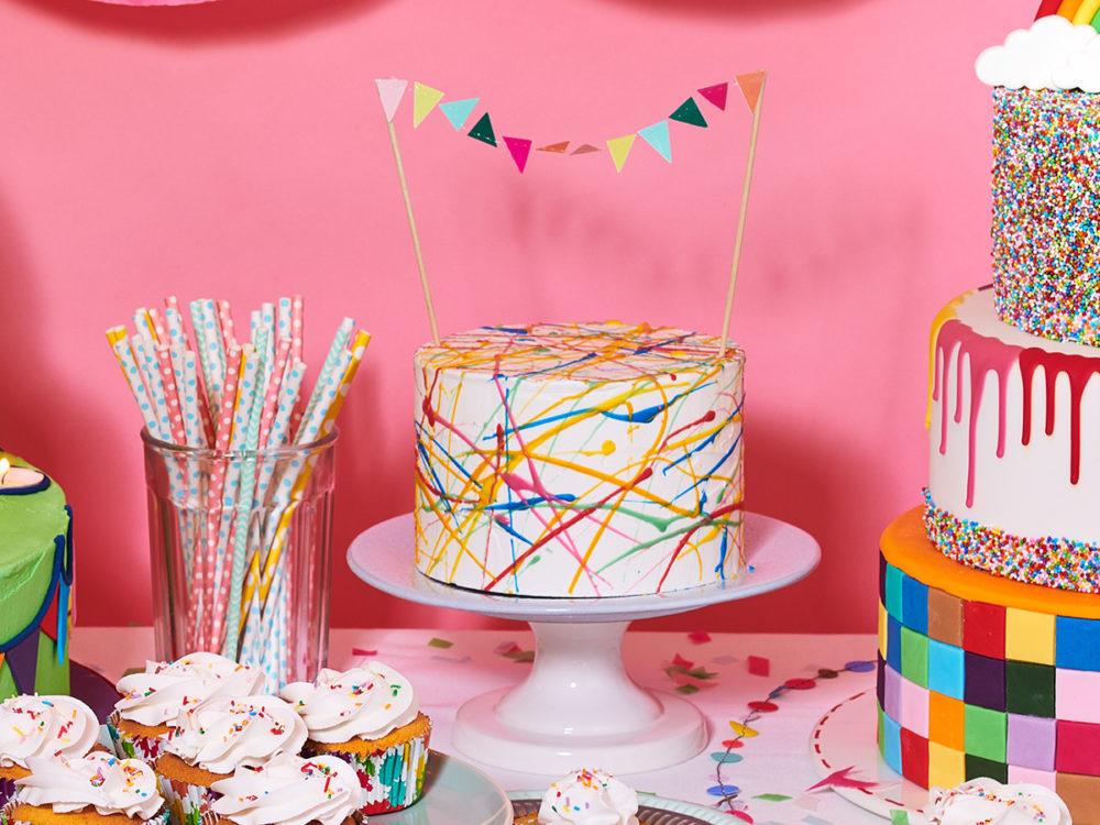 Spetterende verjaardagstaart