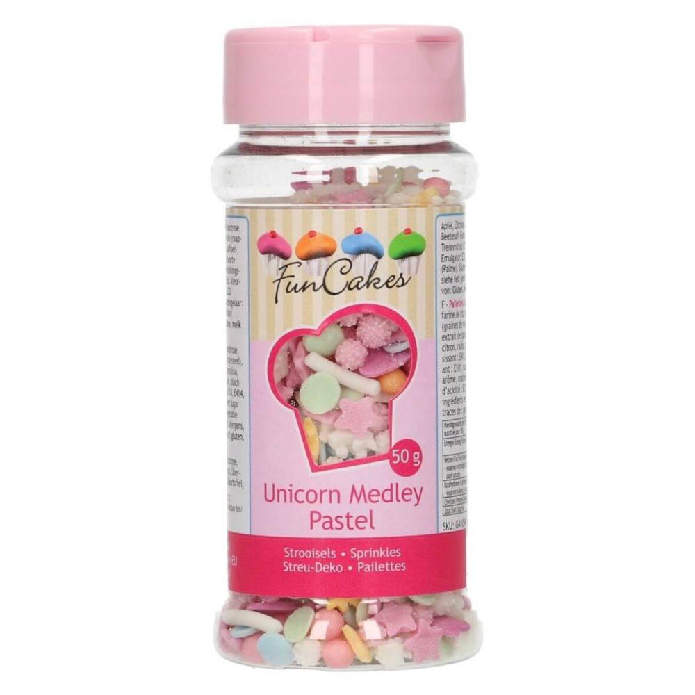FunCakes Sprinkle Medley Pastel Unicorn