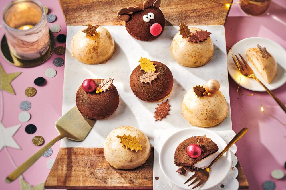 Christmas chocolate dome cakes