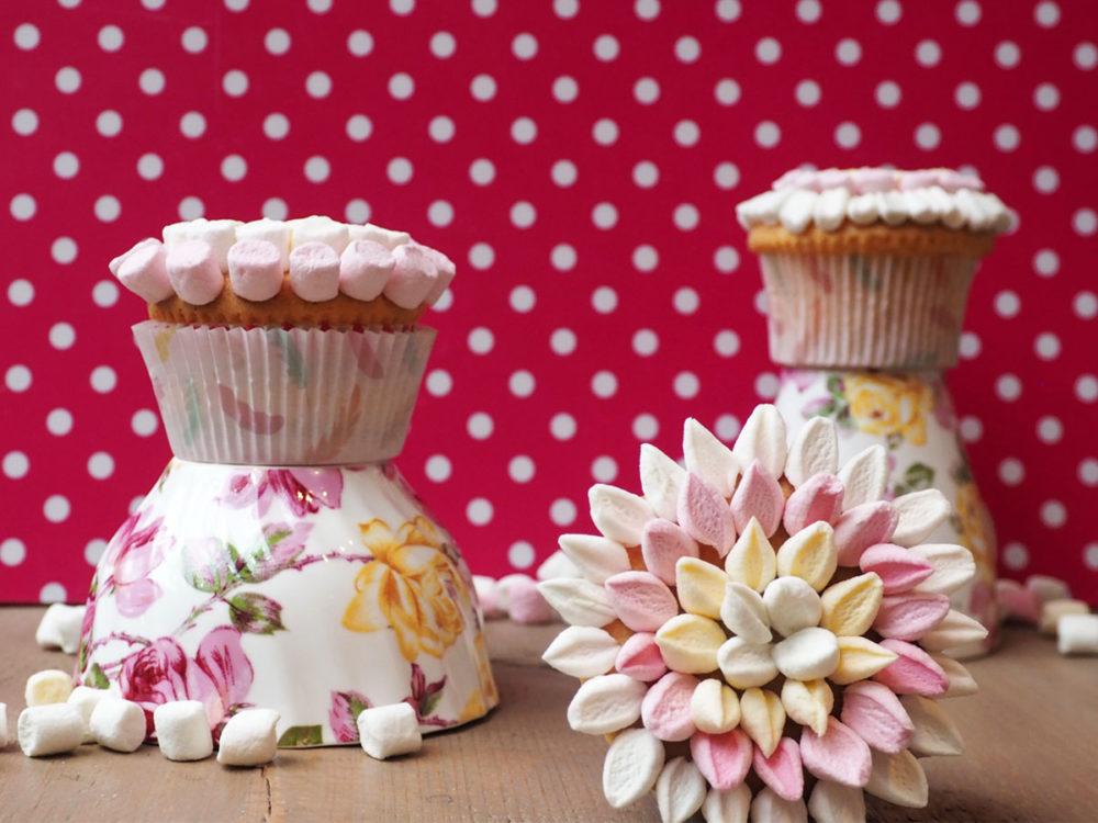 Marshmellow Bloemen Cupcakes