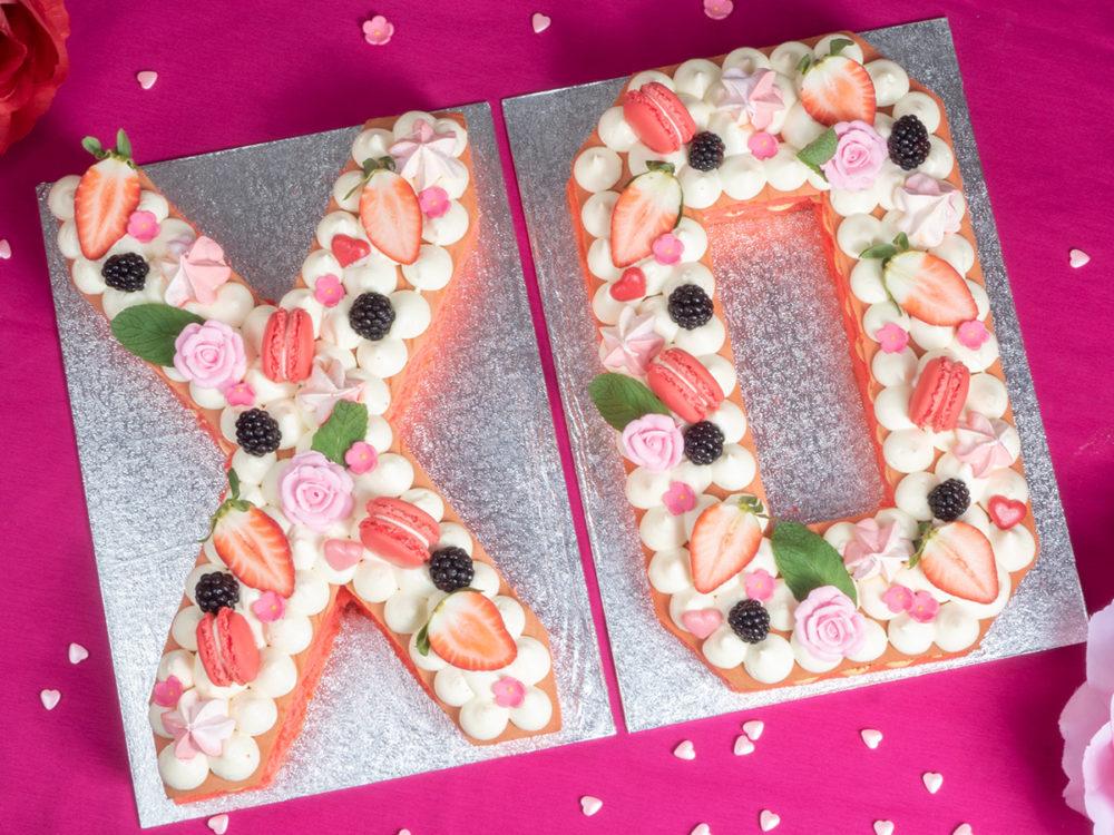 XO letter taart