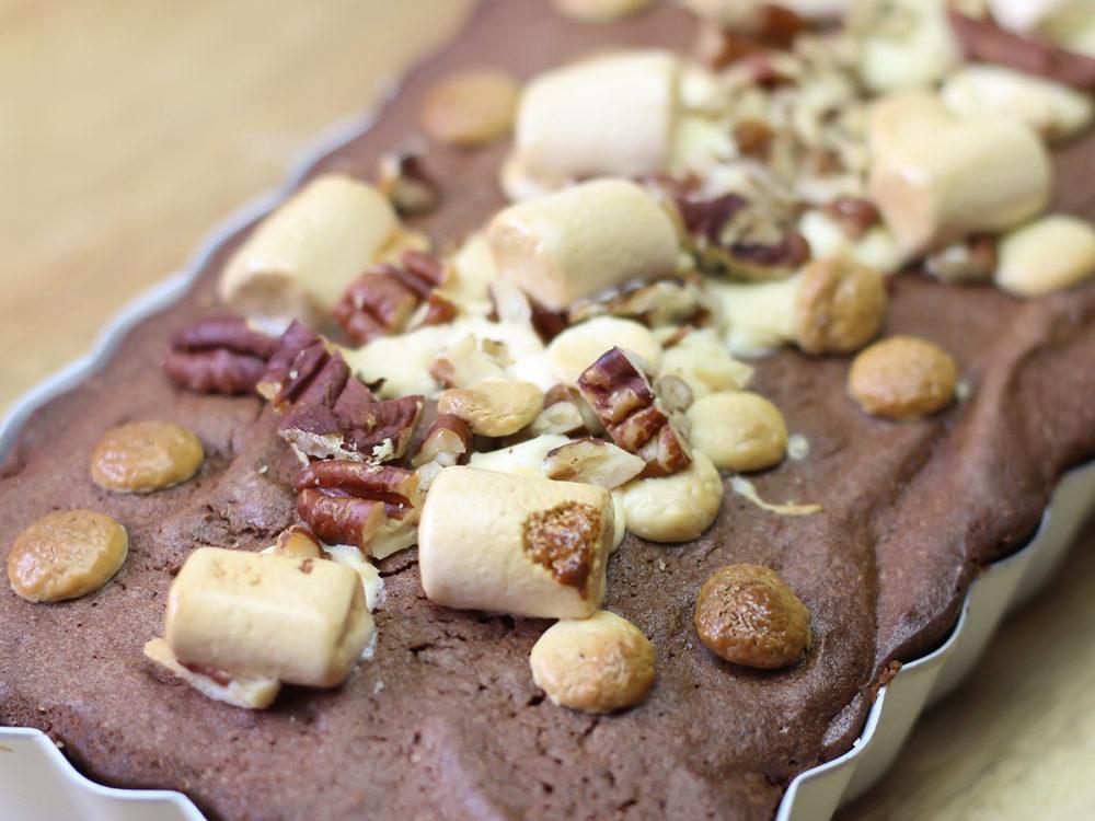 Brownie met pecannoten