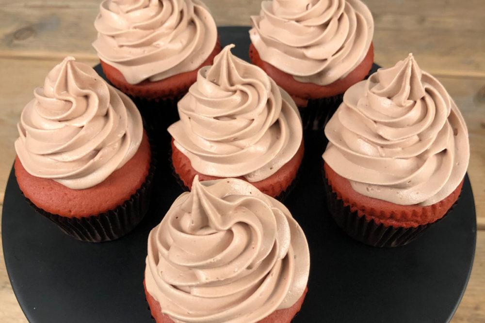 Red velvet choco cupcakes
