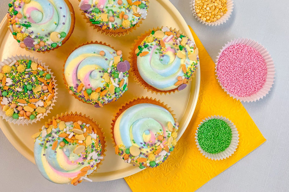Vrolijke Paascupcakes