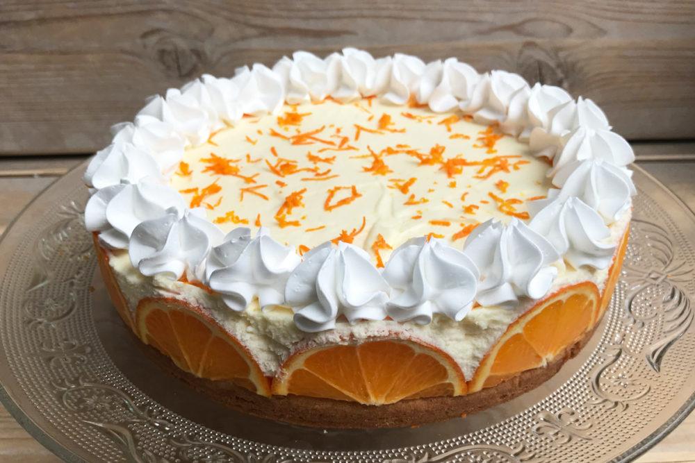 Orange bavarois cake