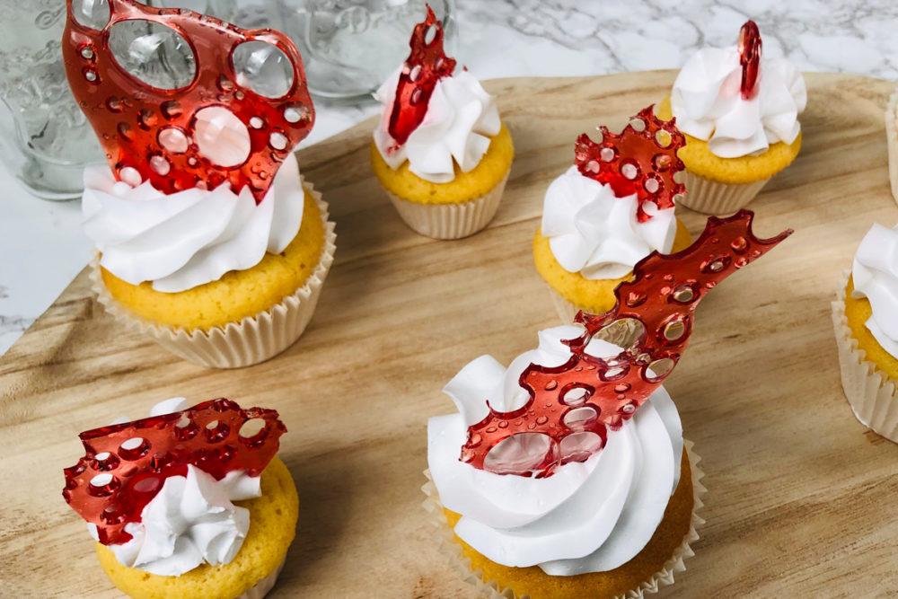 Cupcakes met suikerschuim
