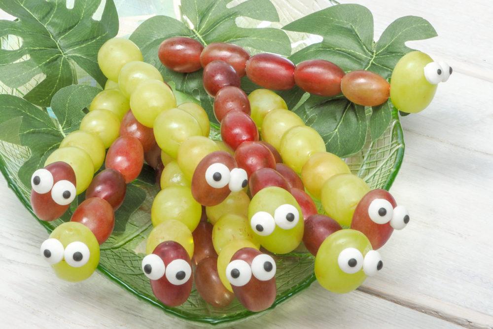 Caterpillars on a stick