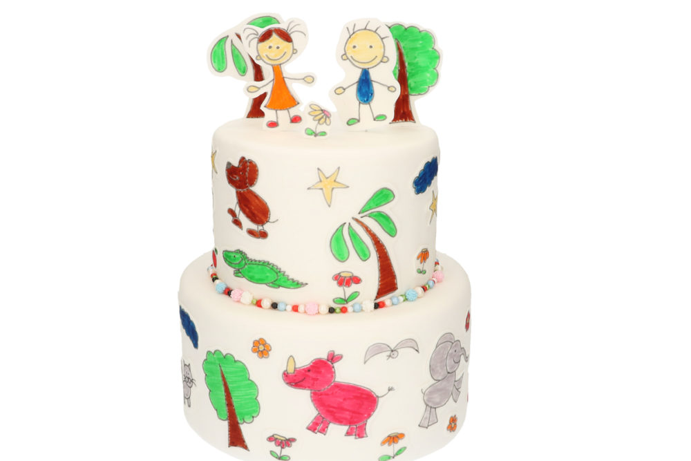Kindertekening taart