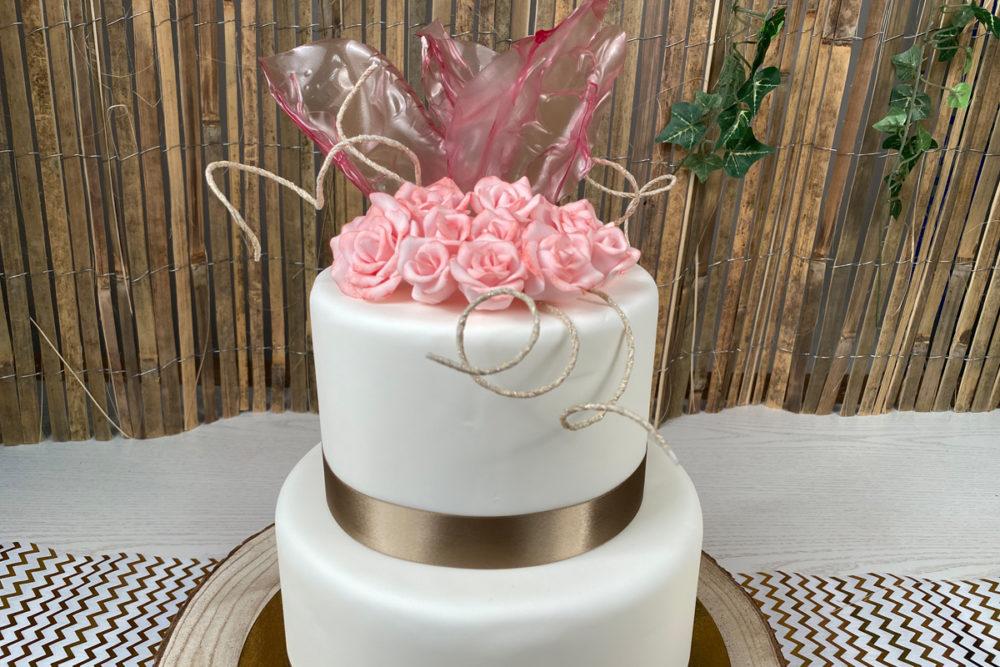 Rice paper wedding cake