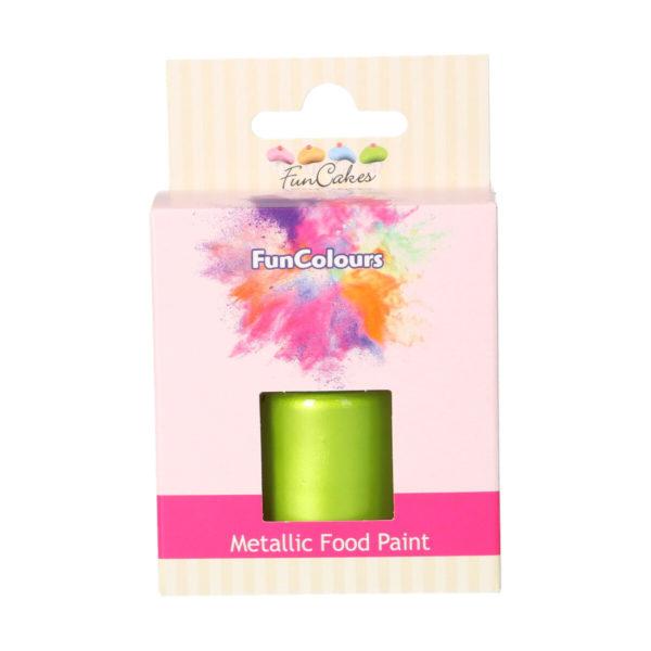 FunCakes Metallic Food Paint Spring Green