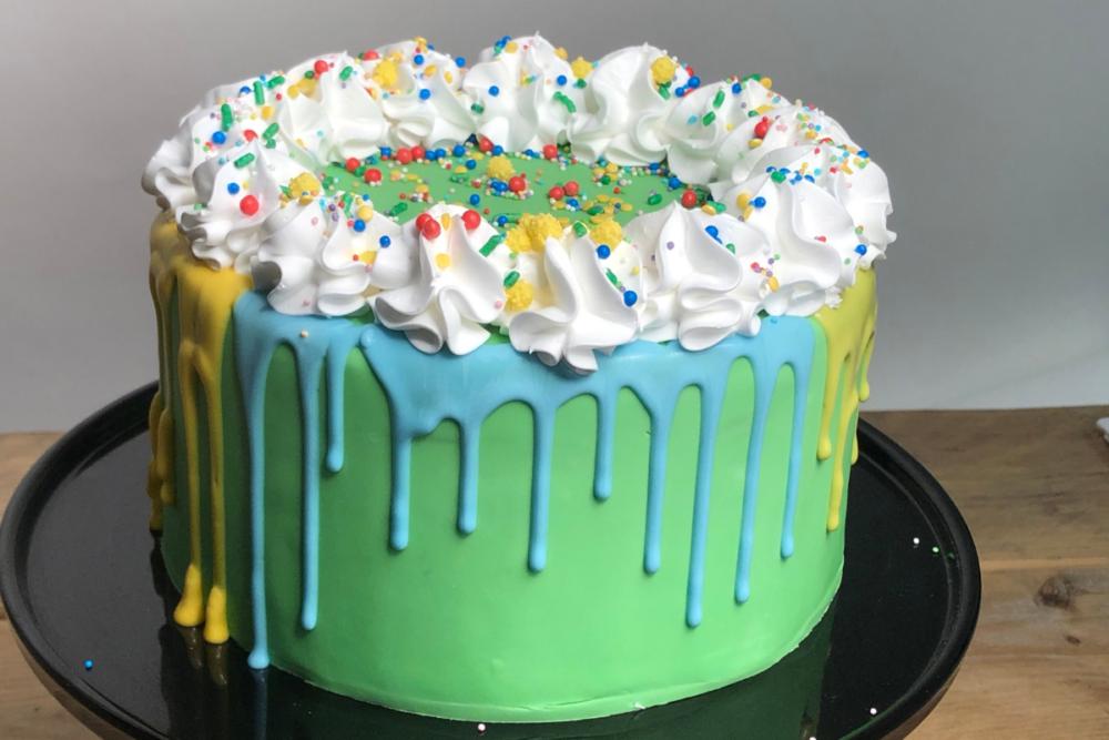 Circus drip taart